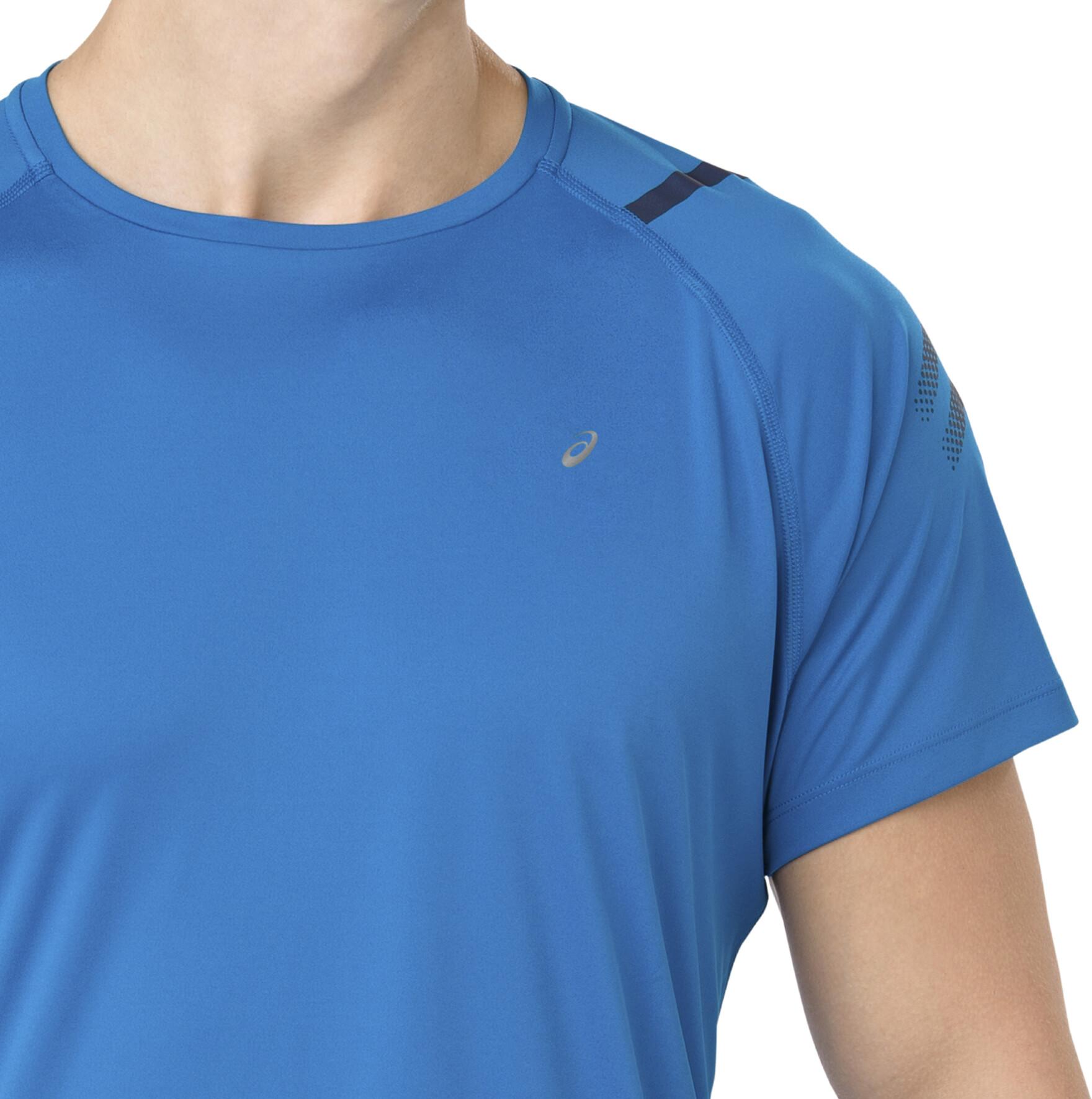 8fd8933e123 asics Icon - T-shirt manches longues running Homme - bleu - Boutique ...